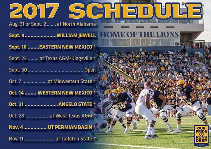 A M Commerce Releases 2017 Football Schedule And Initial Ticket